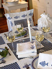 Fish Table Linen Collection - bed, bath & table linen