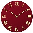 Handpainted Wall Clock:Red Colour Options