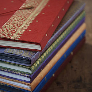 Fair Trade Sari Photo Albums - anniversary gifts