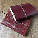 Thumb leather notebook