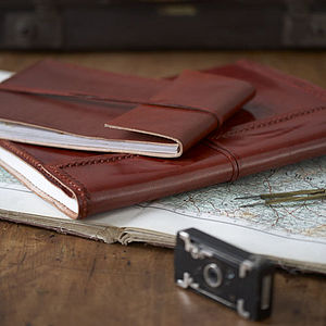 Fair Trade Leather Photo Album - stationery & desk accessories