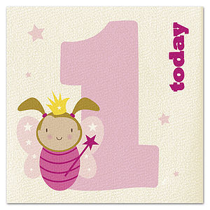 Age 1 Fairy Princess Card