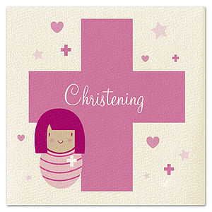 Girls Christening Card