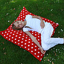 Red and white spot cushion