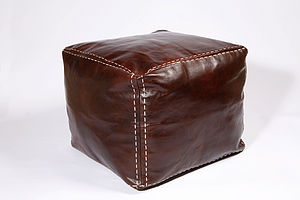 Genuine Leather Footstool - living & decorating