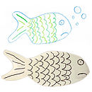 fish cufflinks white bg
