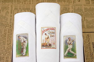 Box of Three Men's Hankies: Cricket
