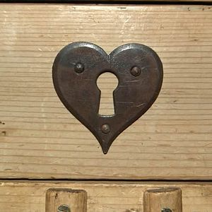 Heart Key Escutcheon - door knobs & handles