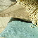 Linen Cushions Sand and Blue