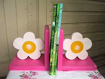 flower bookends candy pink1