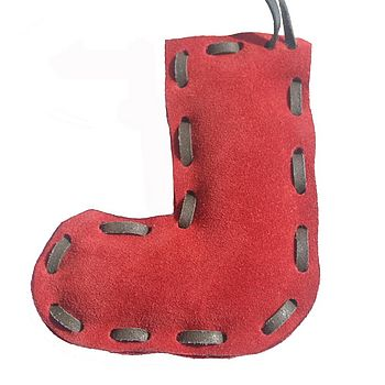 Red Suede Stocking