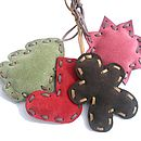 Set of 4 Suede Decorations