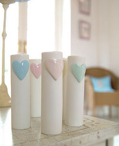 Ceramic Heart Vase - vases
