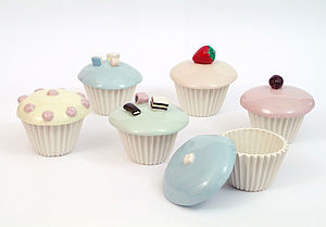 Ceramic cupcake pots - kitchen