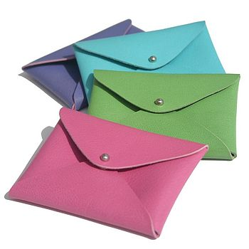Bright Leather Card Holders