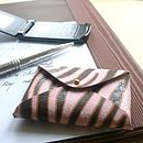Striped Pink Card Holder
