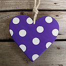 spotty heart_royal purple