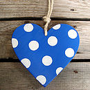 spotty heart_royal blue