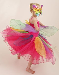 Butterfly Fairy Dress With Mask - fancy dress