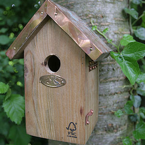 Copper Roofed Birdhouse - for small animals & wildlife