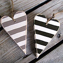 striped hearts