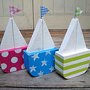 sailboats_seaside rock spots / bright blue stars / lime green stripes