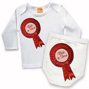 'Best in Show' T Shirt And Nappy Cover