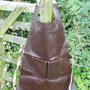 Recycled Leather Mens Apron