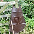 Women's Recycled Leather Apron