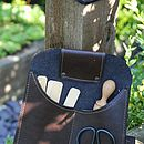 Recycled Leather Belt Pouch