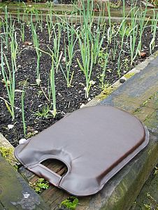 Recycled Leather Garden Kneeler - garden essentials
