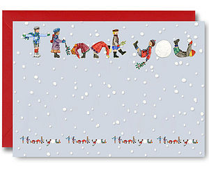 Pack Of 10 Christmas Thank You Notelets
