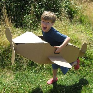 Paperpod Aeroplane Brown - toys & games