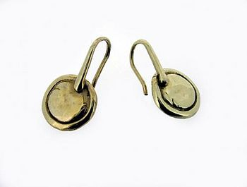 lozenge earrings in gold
