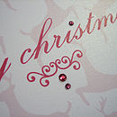 Pink Reindeer Card Detail