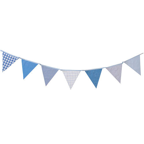 shades of blue cotton bunting by the cotton bunting company