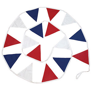 Red White And Blue Cotton Bunting - bunting & garlands