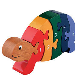 Jigsaw Wooden Tortoise 1-5 - traditional toys & games