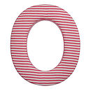 Fabric Letters Red CStripe1