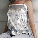 Grey Leaf Stencil Camisole PJ Set