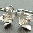Lily Flower Hook Earrings