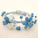 Turquoise Flower and Butterfly Bracelet