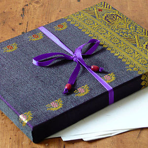 Fair Trade Sari Stationery Set