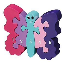 Jigsaw Wooden Butterfly 1-5 - gifts for babies