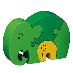 Jigsaw Elephant Mother & Baby - toys & games