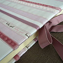 Baby Girl Ribbon Striped Photo Album