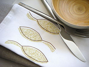 A Pair of Leaf Napkins - bed, bath & table linen