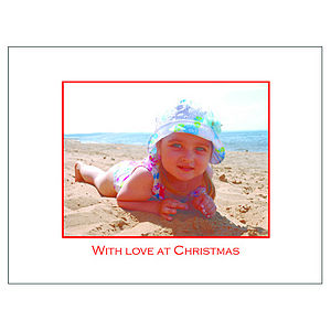 24 Personalised Christmas Cards: With Love - cards