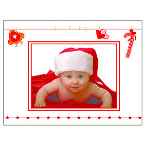 24 Personalised Christmas Cards: Washing Line - cards & wrap