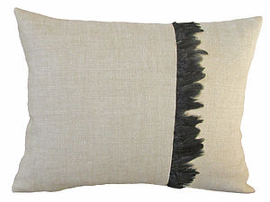 Linen and Feather Cushion